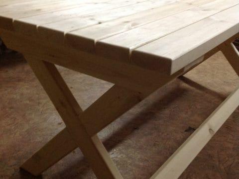 стол хвоя ножки крестм