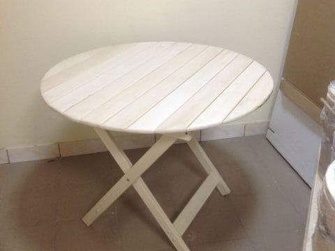 стол круглый липа
