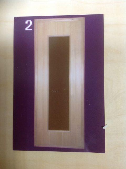 Дверной блок со стеклом (липа)